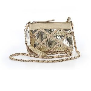 Big Buddha Gold Embellished Crossbody Bag